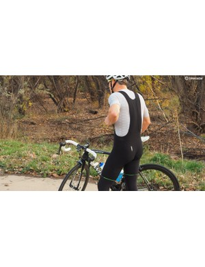 The Salopette L1 bib short weighs 167g in this size Large, with most of that weight being the chamois
