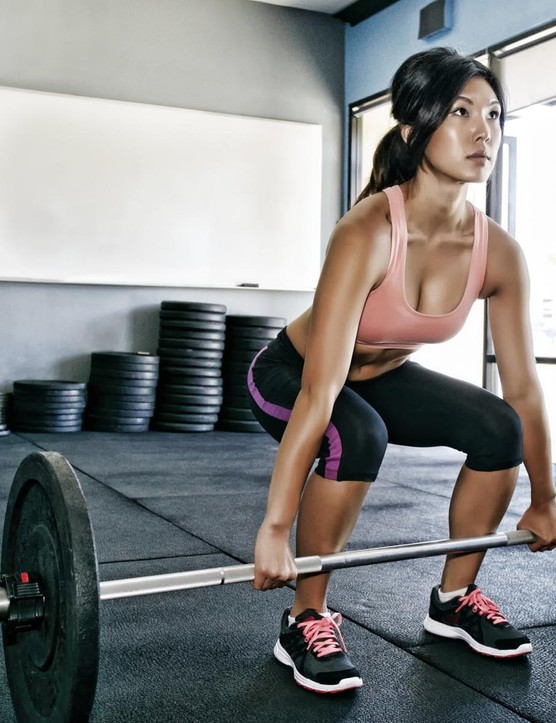 Strength training and weightlifting is a great way to give your fitness a boost over winter, and it's relatively quick too