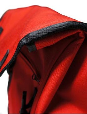 A roll-top type opening gives easy access to the interior, and the bag is waterproof