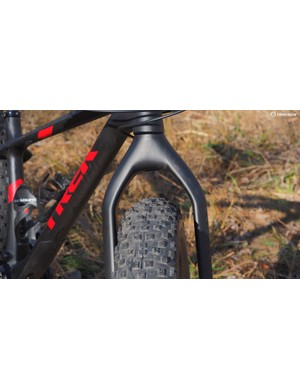 The fork is suspension-corrected if you want to install a RockShox Bluto fork