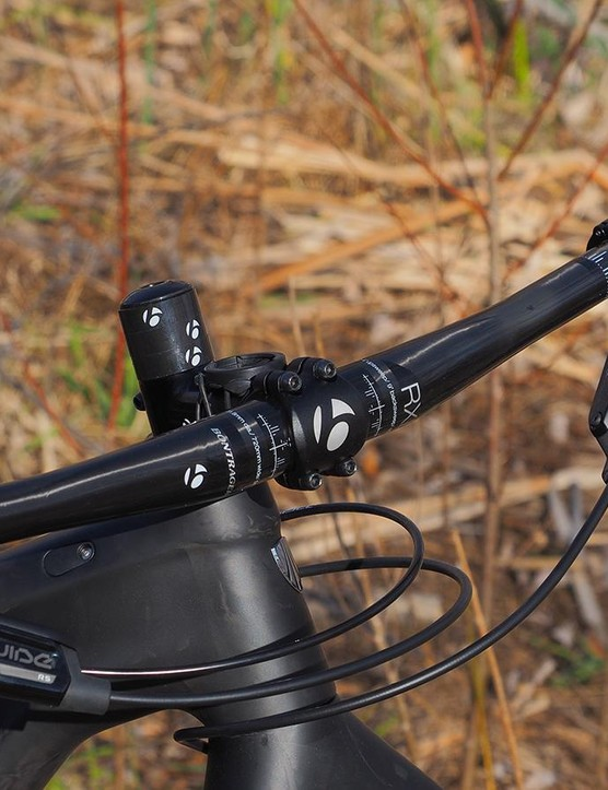 The Bontrager RXL handlebar is a bit narrow but it'll do the job