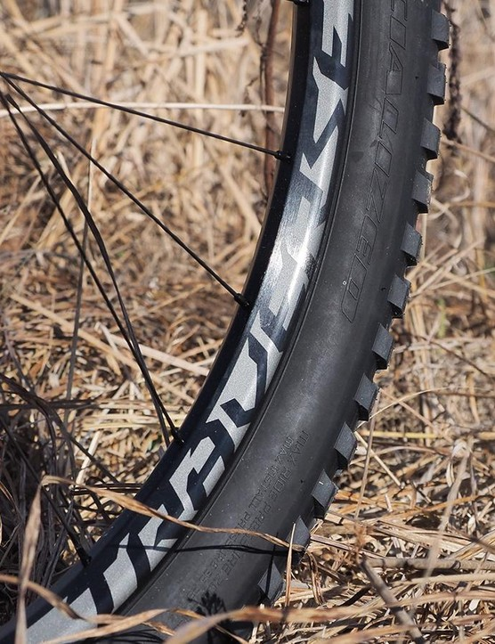 One questionable decision is the use of 29mm-wide rims (internal measurement) for the 3in-wide tyres. Time will tell if this helps or hampers performance on the trail