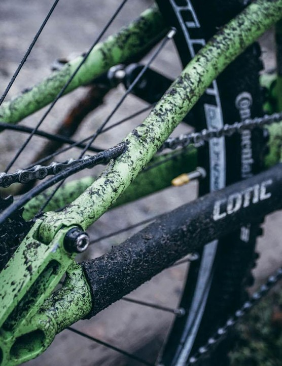 Cotic's Droplink suspension is a linkage-driven single pivot, designed to be poppy and progressive for a fun ride