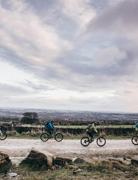 The Peak District above Sheffield is a great place to test bikes – steep climbs, technical descents and plenty of rolling tracks give ample opportunity to put them through their paces