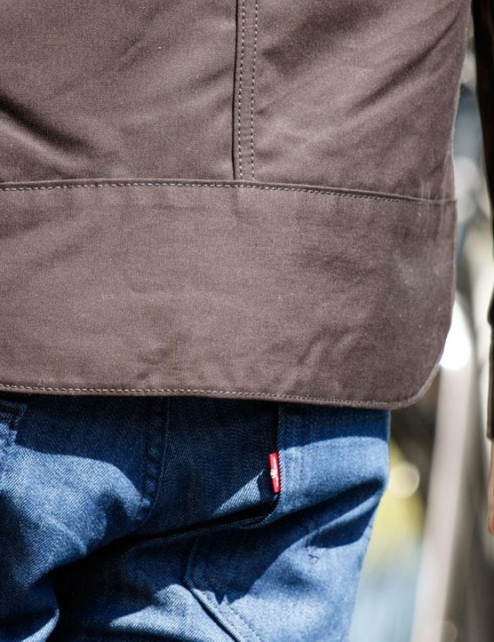 The jackets in the Levi's Commuter collection come down nice and low. The jeans sit nice and high
