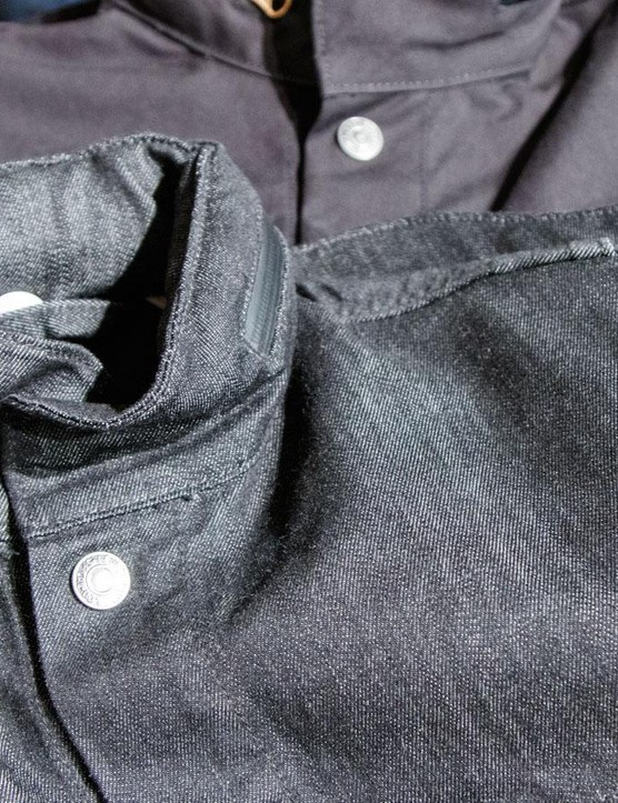 We tested the men's Commuter Trucker Jacket in black canvas, but it also comes in cougar, (think mustard), or a classic indigo