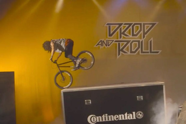 MacAskill is joined by fellow Drop and Roll tour riders Duncan Shaw, Ali C and Fabio Wibmer