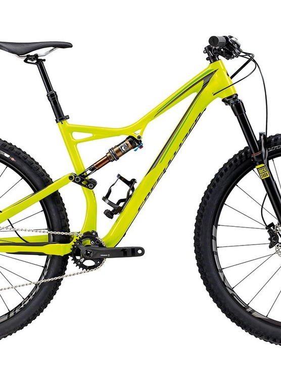 The Stumpy's angles add up to an accomplished, fairly traditional trail bike