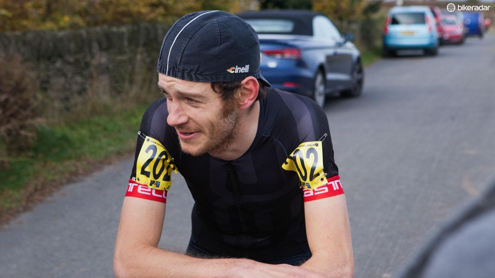 Joe's our hill climbing champ, and right now he's thinking about cake