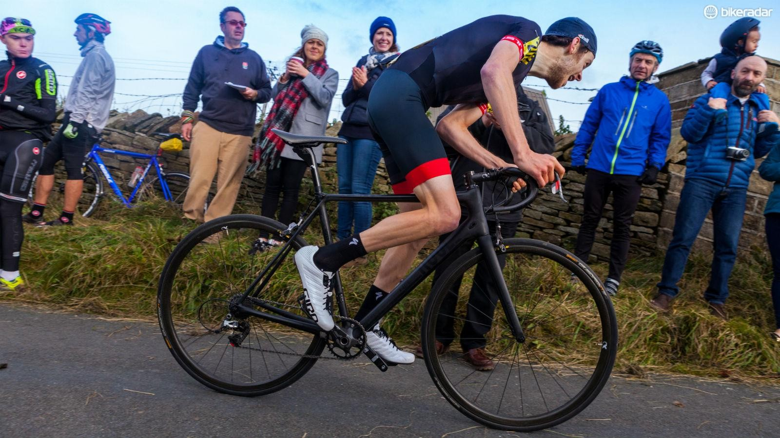 For hill-climb season, both rider and bike must be as lean as possible