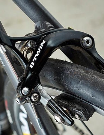 B'Twin's own brakes are an exception to the 105 kit – but they're very good nonetheless