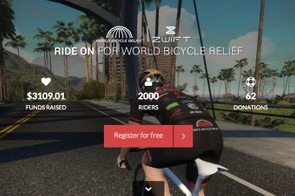 Register for free to ride Zwift to raise money for World Bicycle Relief