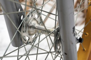 Shimano high-flange hubs are featured at both ends