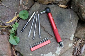 The Effetto Mariposa Giustaforza II 2-16 Pro Deluxe torque wrench isn't new, but its roll up case is...