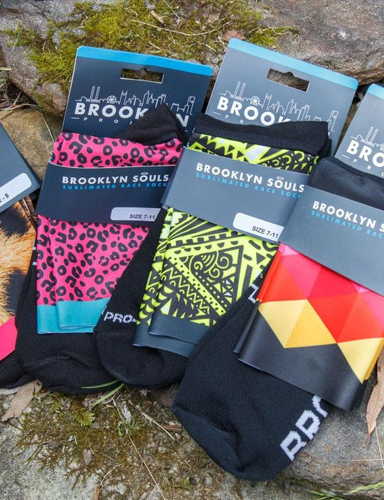 New Australian brand, Brooklyn Project, are making socks with a difference. Rather than stitching in designs, they're using sublimated fabric at the cuff for unlimited style options