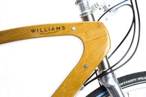 The unique frame is constructed from a combination of bamboo and flax