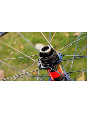 Hubs are disc-specific, too. Wheels designed only for rim brakes can't be used