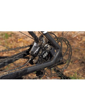 Disc brakes don't have to be hydraulic-only. This HY/RD model from TRP works with standard cable-actuated levers but then switches to full-hydraulic operation at the caliper to great effect