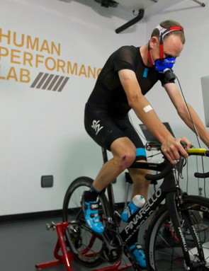 Chris Froome's VO2 Max data is on the scale, but only just