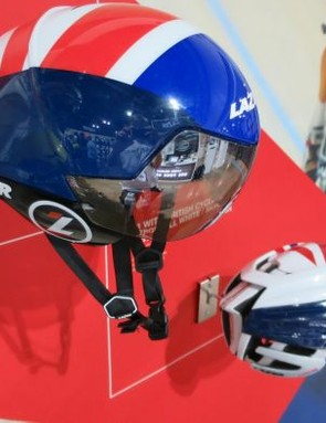 Lazer brought its Wasp Air and Z1 with aero cover to 2015's iceBike*