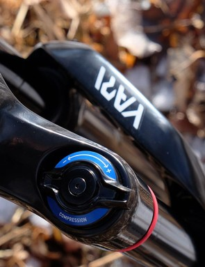 Unlike high-end forks from RockShox, the Yari makes due with a simple compression adjuster and an open-bath Motion Control damper