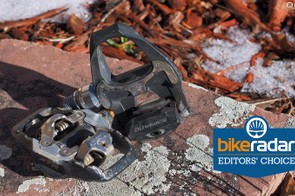 Lots of clipless pedals are lighter and/or cheaper but I keep coming back to the Shimano Dura-Ace SPD-SL for the road and the Shimano XTR Trail for trail duty