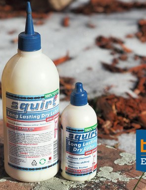 Squirt wax-based chain lube is the best I've found for dry, dusty conditions