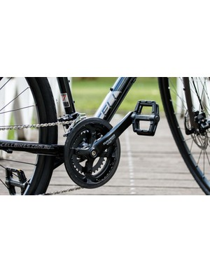The SRAM Via Centro groupset isn't seen that often, but it's a solid choice that's comparable to Shimano Deore