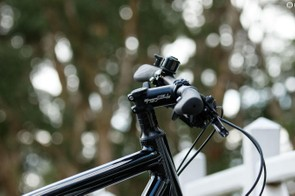 The handlebar and stem help to provide a comfortable, upright riding position