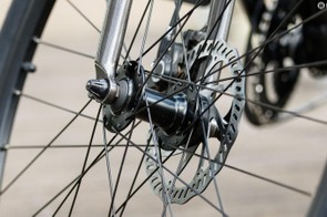 The Shimano M355 hydraulic disc brakes are dependable stoppers. Just be sure to keep oils away