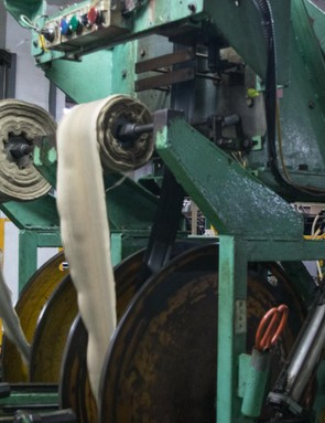…before being put onto reels, which are transported to the next stage