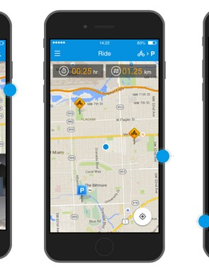 Dropbyke is based on an iOS or Android app