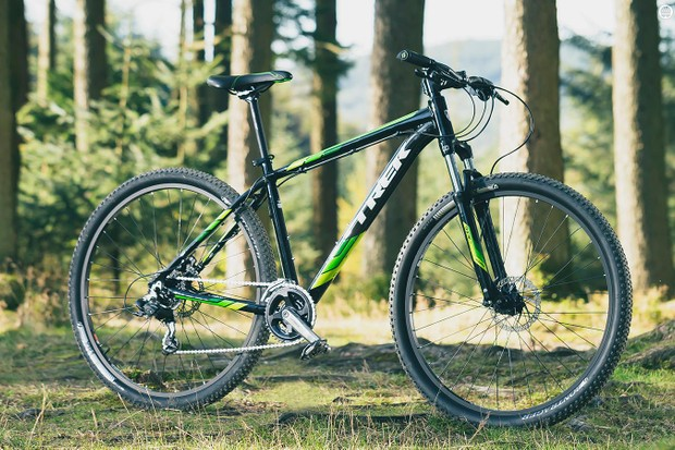 Trek's Marlin is shifts wheel diameter depending on frame size, and comes in a range of paint schemes