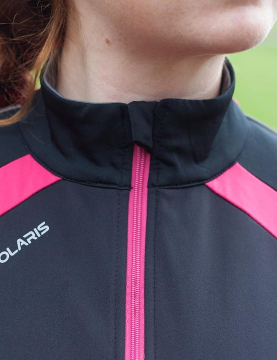 The Polaris Mica jersey has a full-length zip in a contrast colour and a high collar