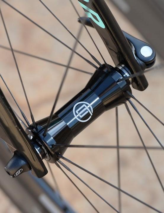 The Black Inc wheels run on their own carbon hubs
