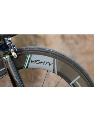 Deep-section 80mm wheels for this bike