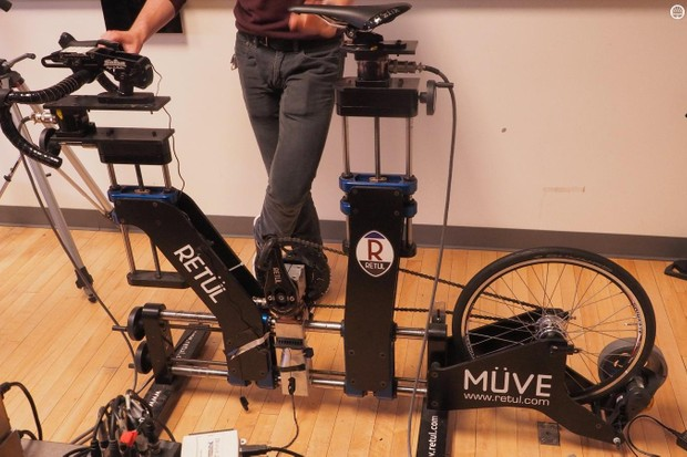 Fizik and the University of Colorado Locomotion Lab have created an instrumented Retül bike to measure forces at the saddle, bottom bracket and handlebar