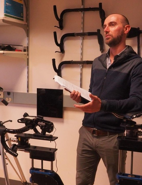 Fizik's Luca Viano is the go-between for pro athletes and the company
