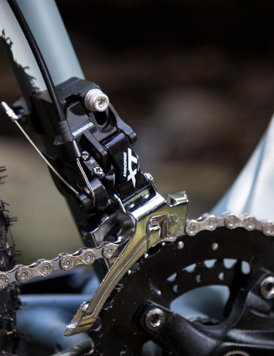 Reid had to jump for a Shimano XT front derailleur as the cheaper models don't offer enough chain clearance