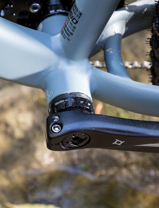 Reid has used a 100mm bottom bracket shell for the Ares