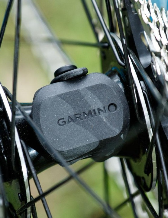 We used the VivoActive with Garmin's Speed Sensor pod (not included)