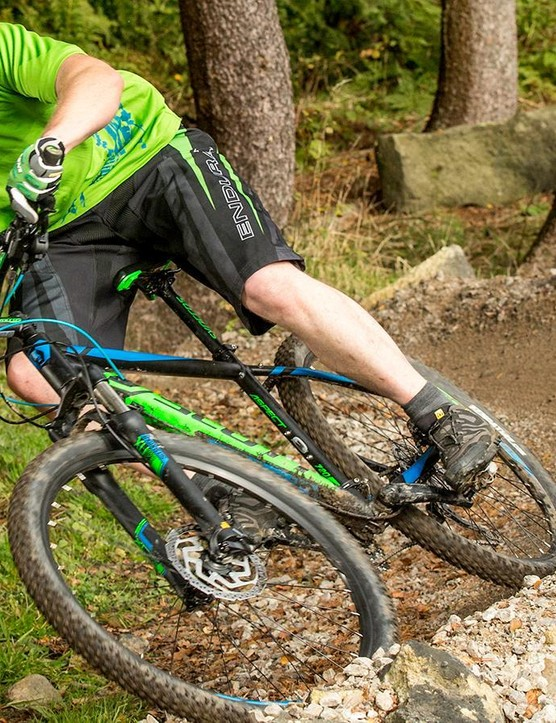 The Scott's frame is reasonably responsive, but that direct feel means you'll know about it when the trail gets rougher