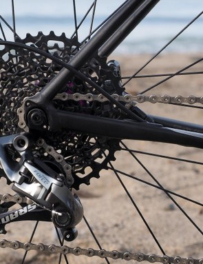 Some Slate models are fitted with SRAM 1x drivetrains. The 10-42T cassette provides quite a useful total range but not everyone will like the rather substantial ratio jumps between each gear