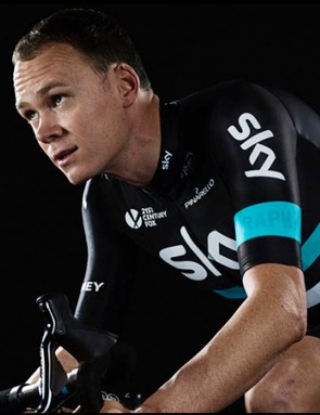 Chris Froome in the 2016 Team Sky colours