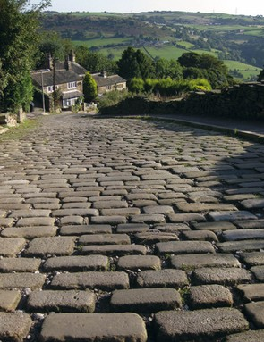 The Shibden Wall in Halifax, Yorkshire, is one of the best cobbled climbs in the UK (If not the world!)