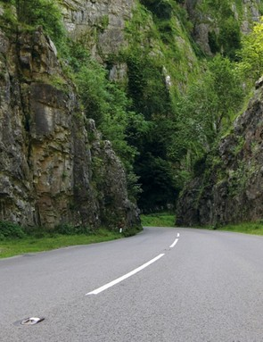 Cheddar Gorge in Somerset features a beautiful smooth road and stunning surroundings