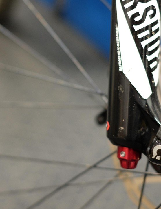 The Pike's Maxle makes for fast, tool-free wheel removal