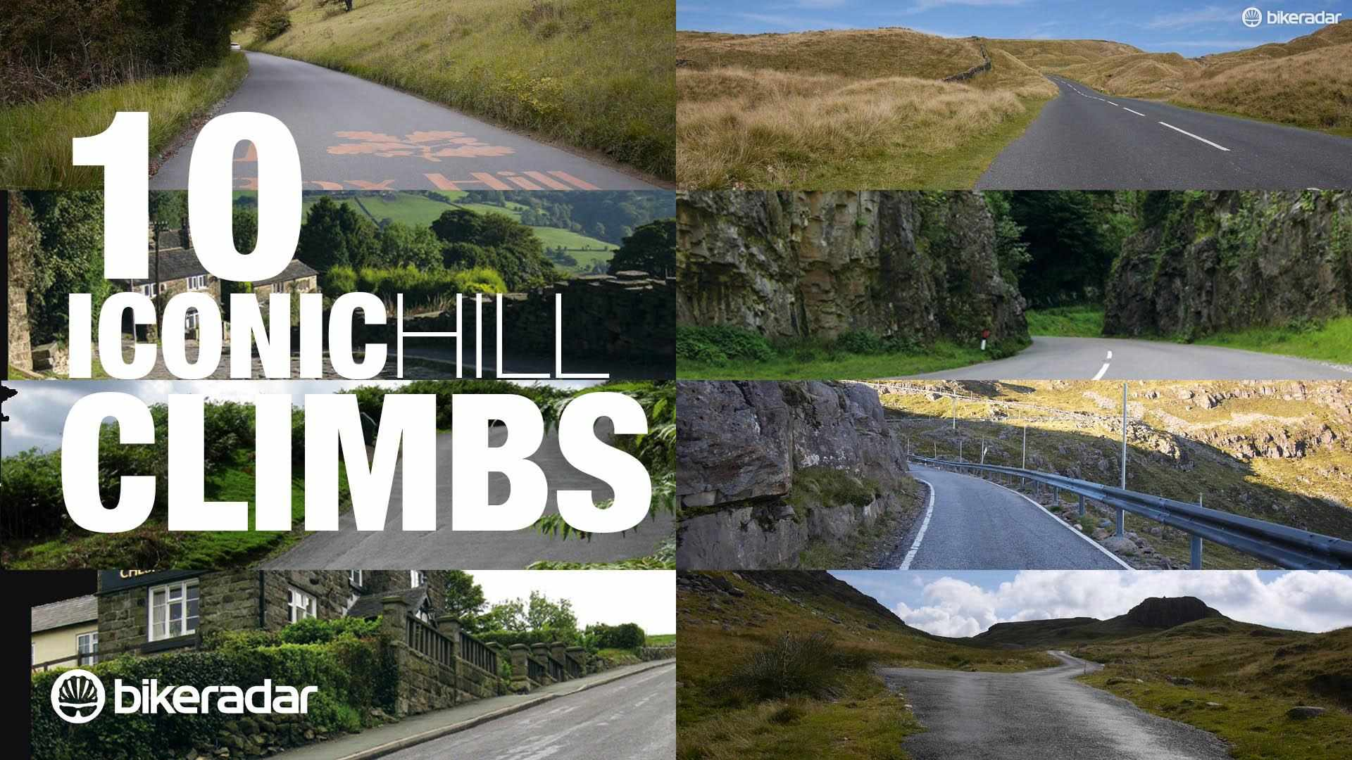 10 iconic challenging hill climbs in the UK