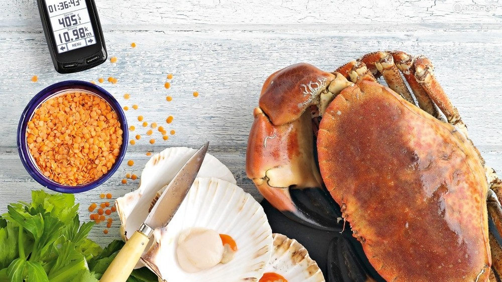 Shellfish like crab and scallops are rich sources of protein