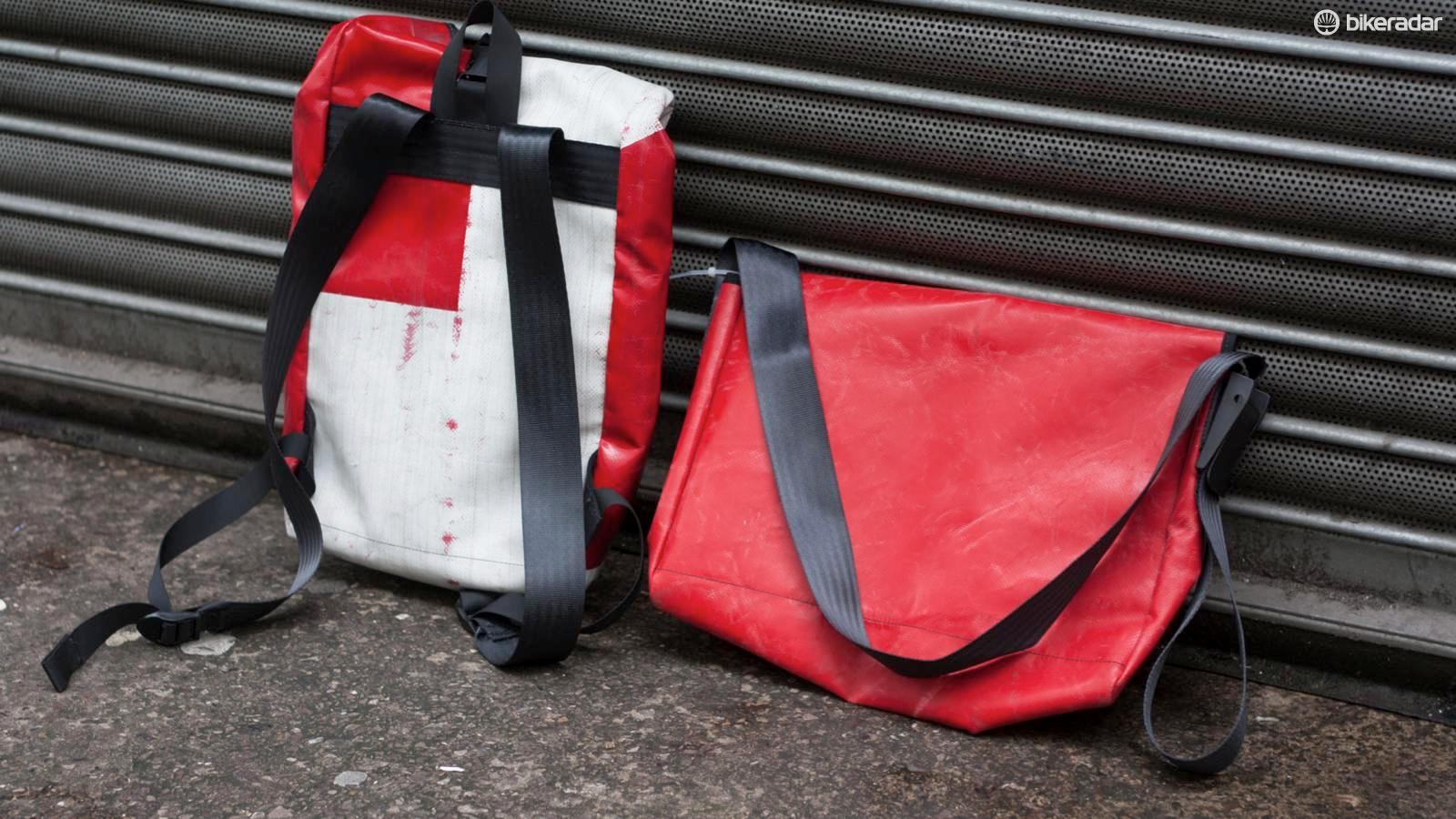 Built for the urban jungle, M-24's Jerrycan backpack and Chassis messenger bag